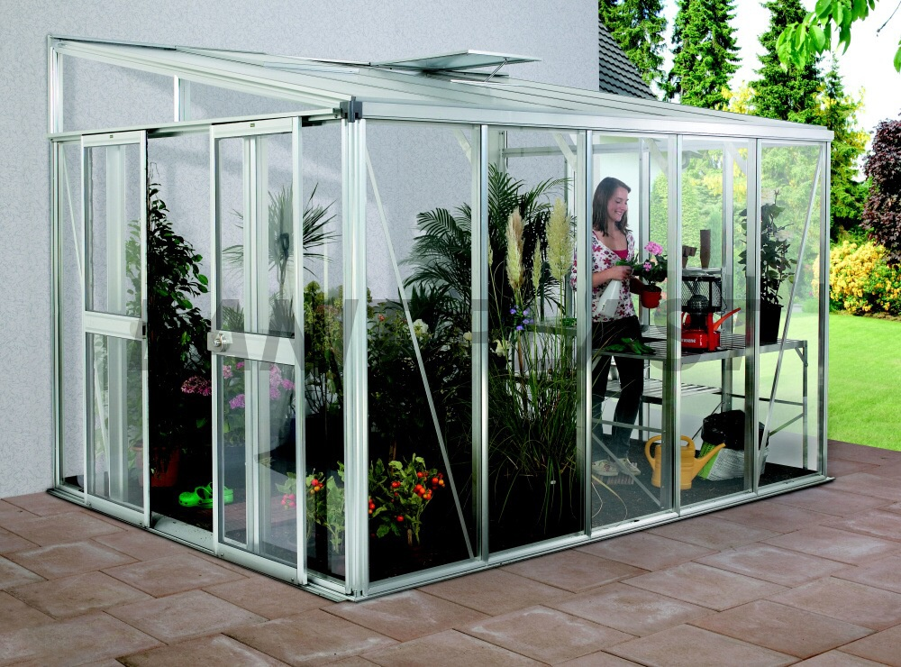 skleník HELENA 7000 stříbrný rozměr 266 x 271 cm