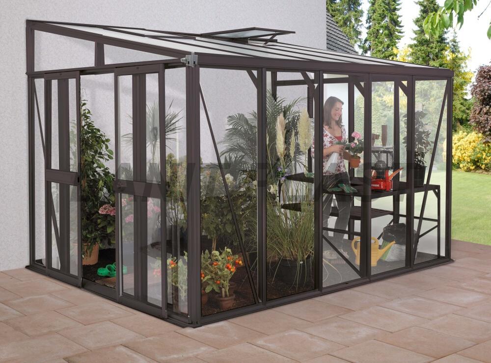 skleník HELENA 7000 tm. šedý rozměr 266 x 271 cm