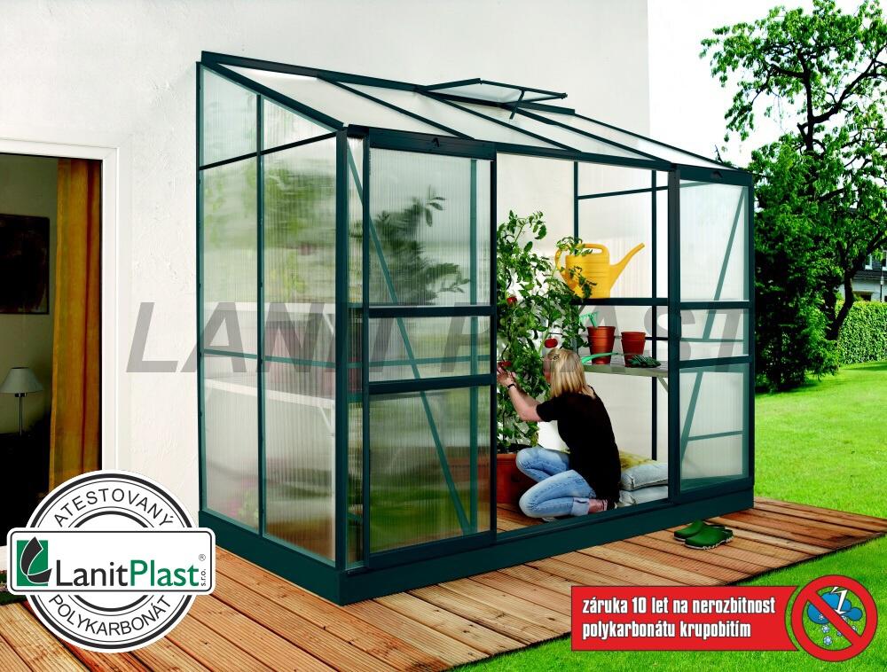 Skleník IDA 3300 zelený PC 4 mm, rozměr 130 x 255 cm