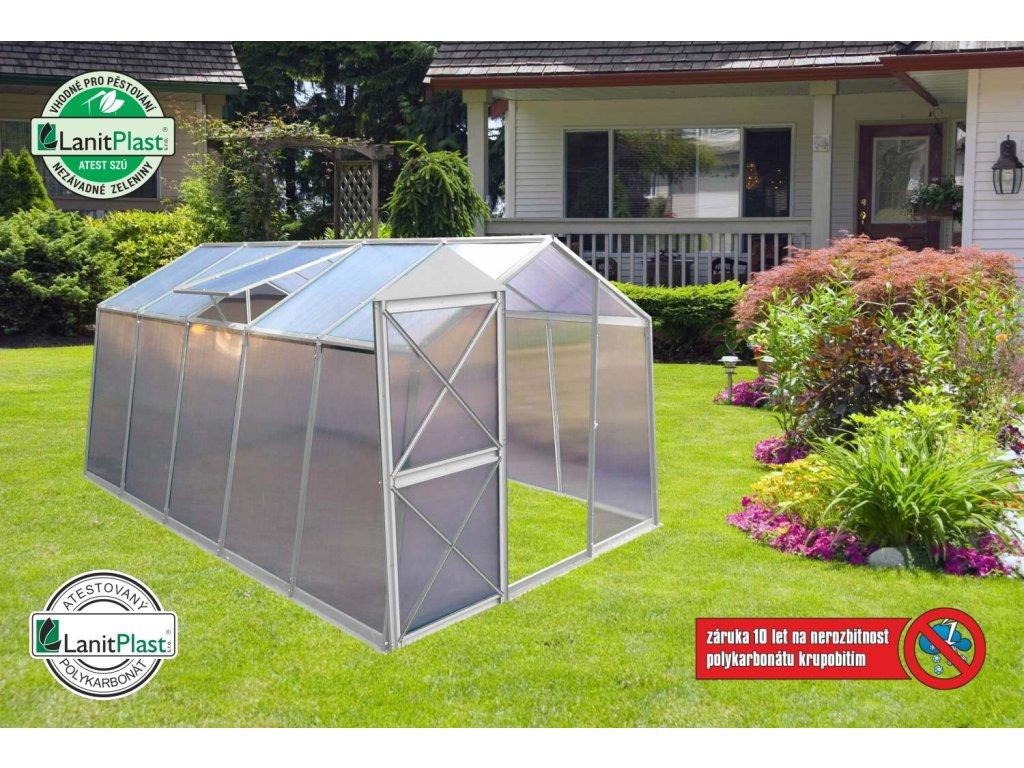 skleník LANITPLAST DODO BIG 8x12 PC 4 mm šedý