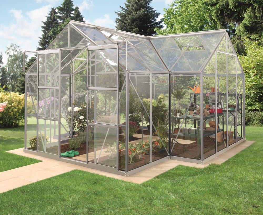 skleník VITAVIA SIRIUS sklo 3 mm stříbrný