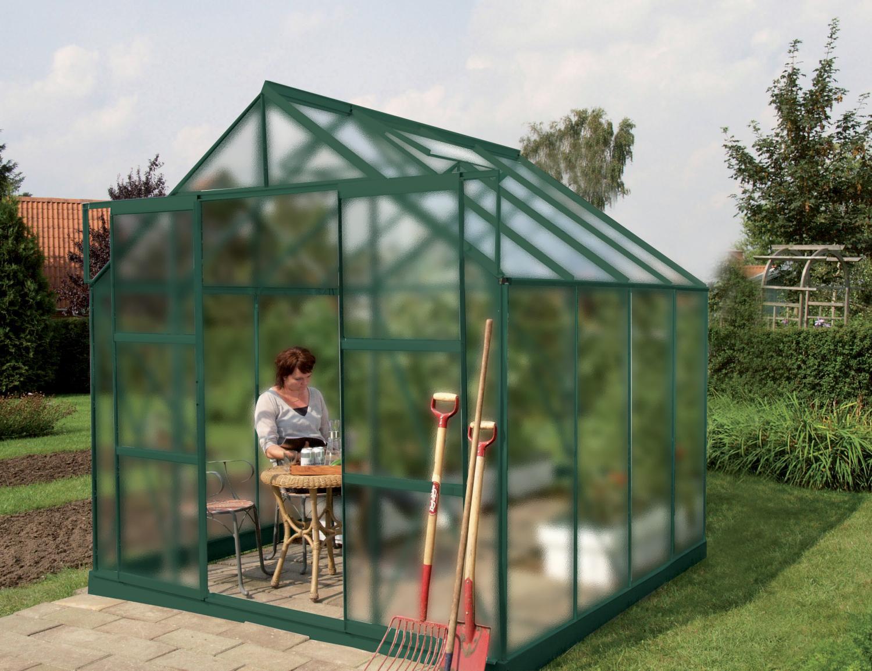 skleník VITAVIA URANUS 6700 matné sklo 4 mm zelený