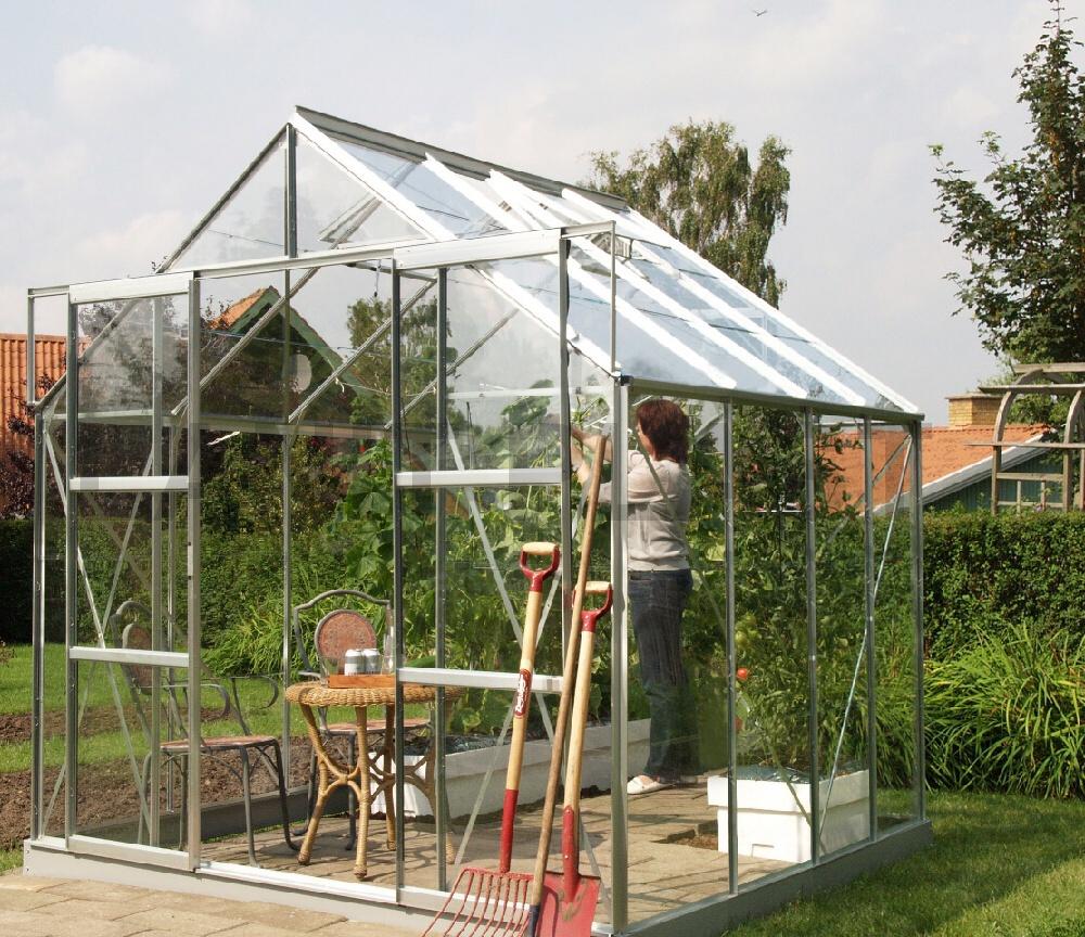 skleník VITAVIA URANUS 6700 sklo 3 mm stříbrný