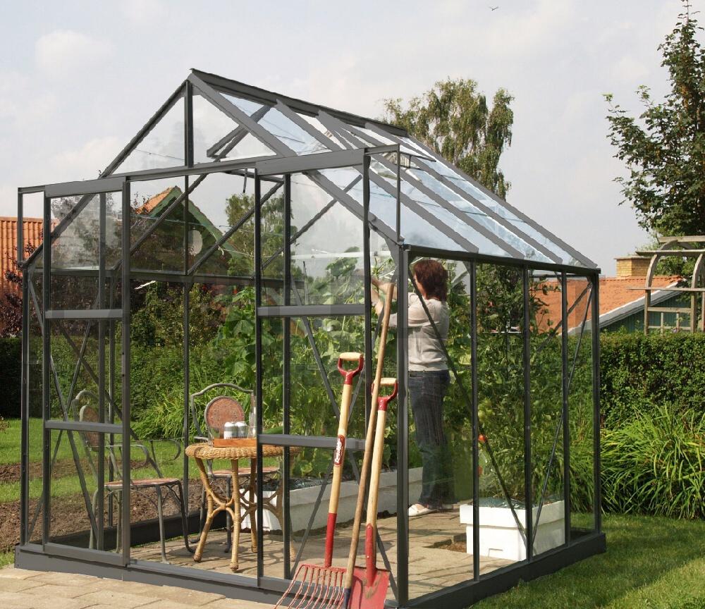 skleník VITAVIA URANUS 6700 sklo 3 mm zelený