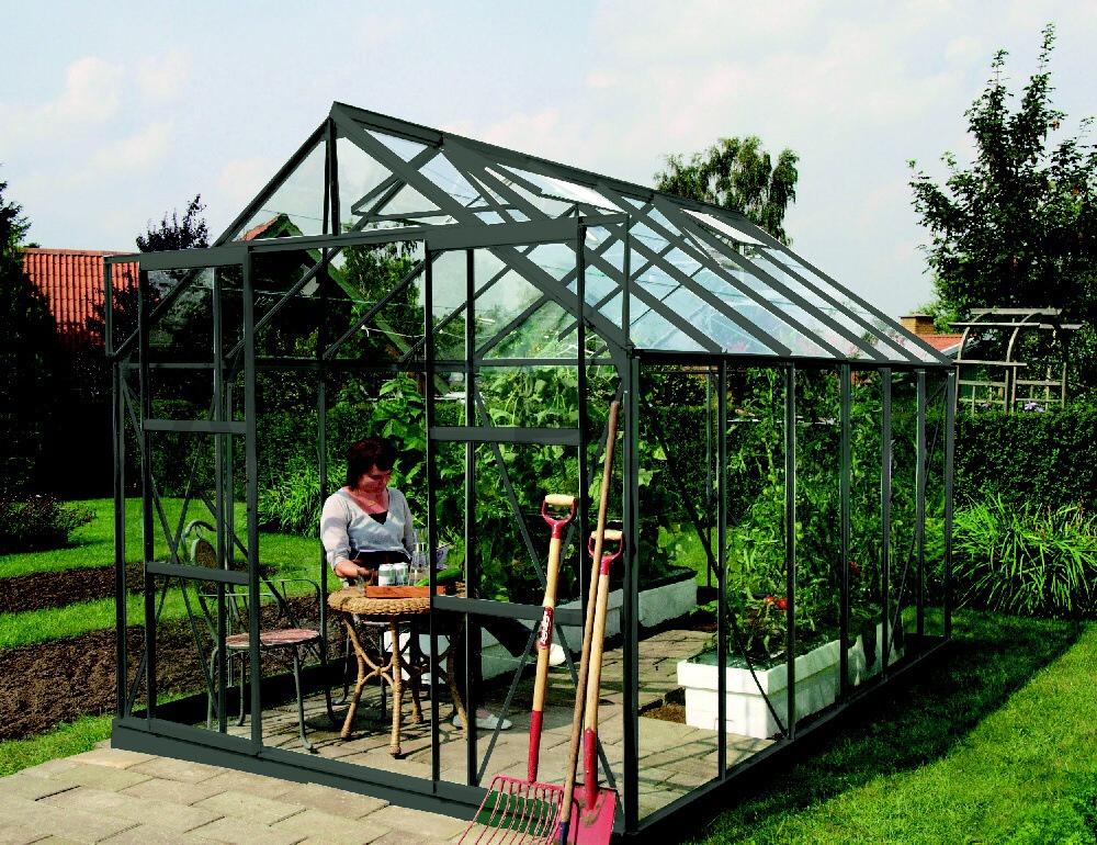 skleník VITAVIA URANUS 8300 sklo 3 mm zelený