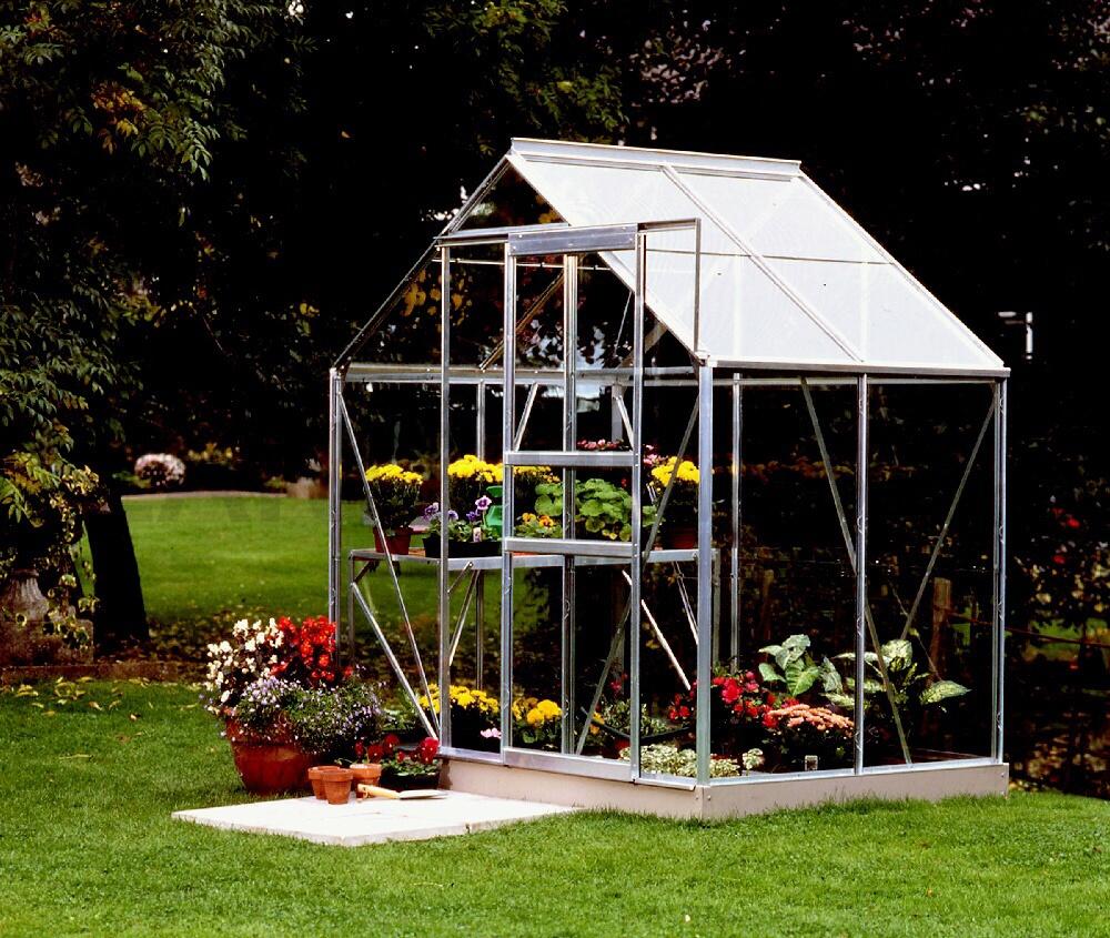 skleník VITAVIA VENUS 2500 sklo 3 mm stříbrný