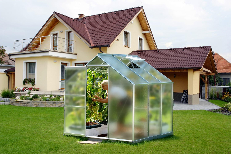 skleník VITAVIA VENUS 5000 matné sklo 4 mm stříbrný