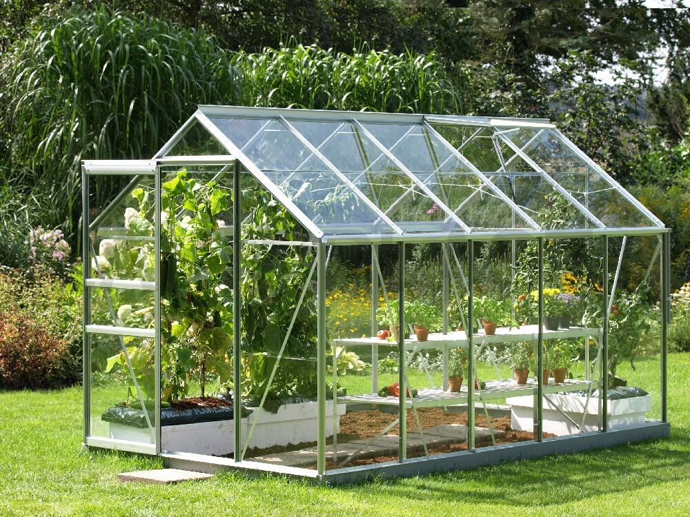 skleník VITAVIA VENUS 6200 sklo 3 mm stříbrný