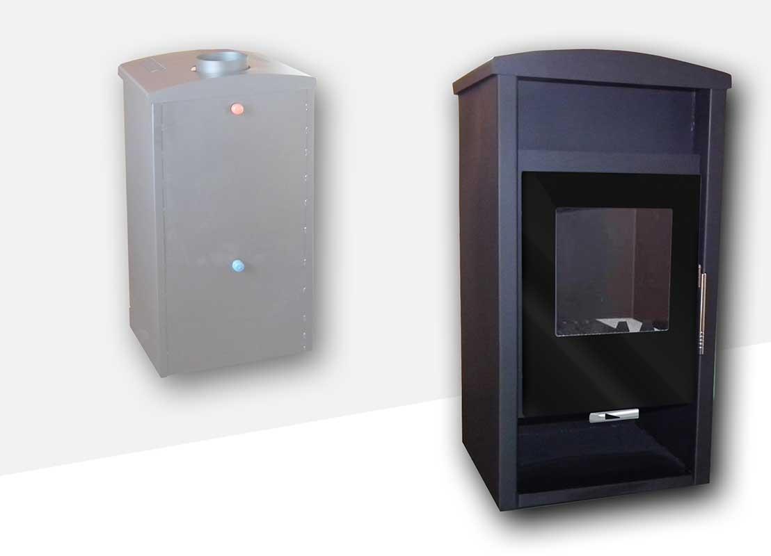 Teplovodní krbová kamna NIKA 603 SV