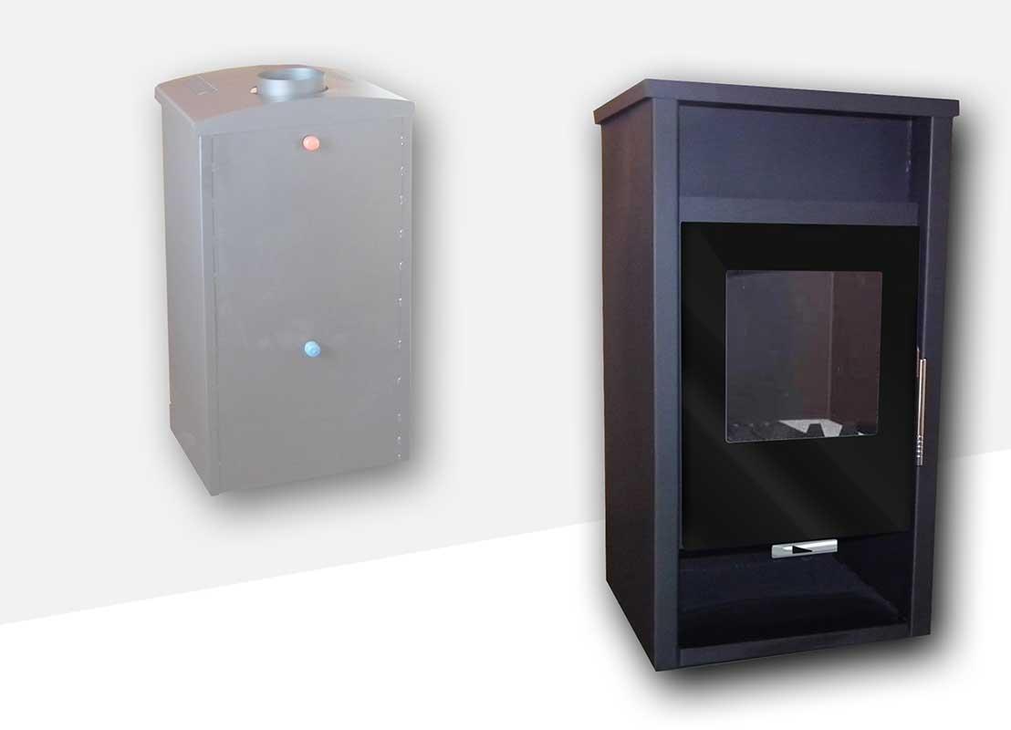 Teplovodní krbová kamna NIKA 604 SV
