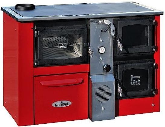 Termomont Temy Plus P 25 interiérový kotel - červený / levý