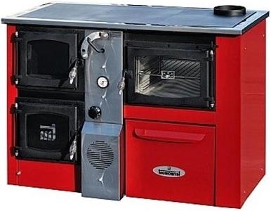 Termomont Temy Plus P 25 interiérový kotel - červený / pravý