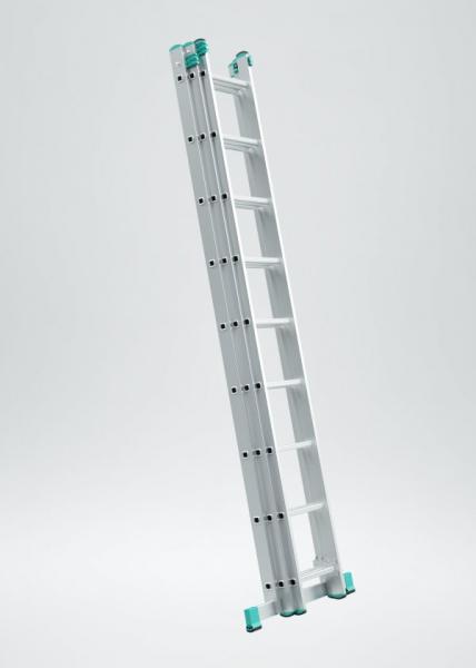 7608 - trojdílný univerzální žebřík 3 x 8 příček