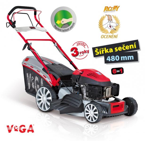 VeGA 495 SXH 6in1 - benzínová sekačka s pojezdem + DÁREK