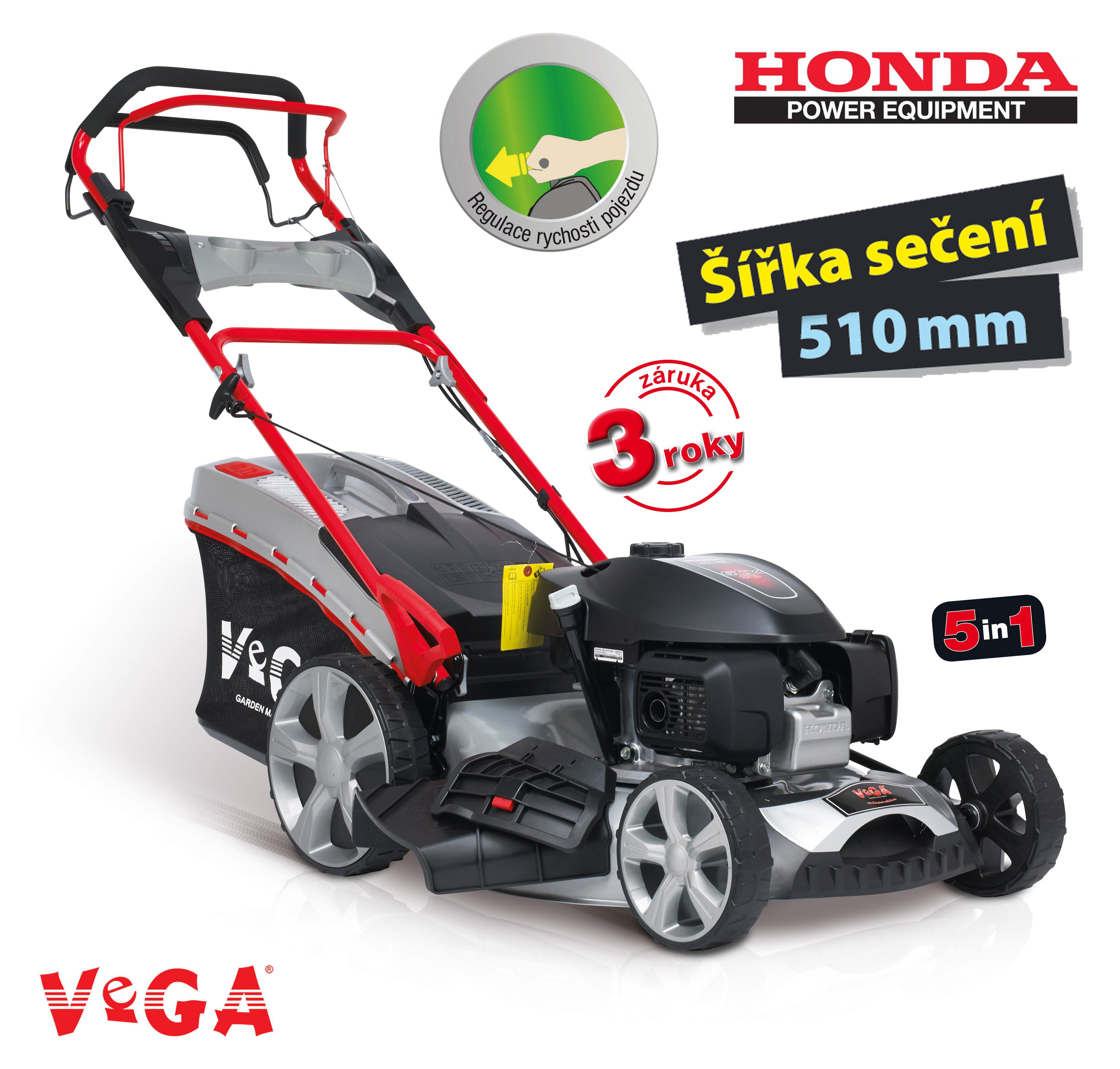 VeGA 752 SXH GCV 5in1 - benzínová sekačka s pojezdem + DÁREK