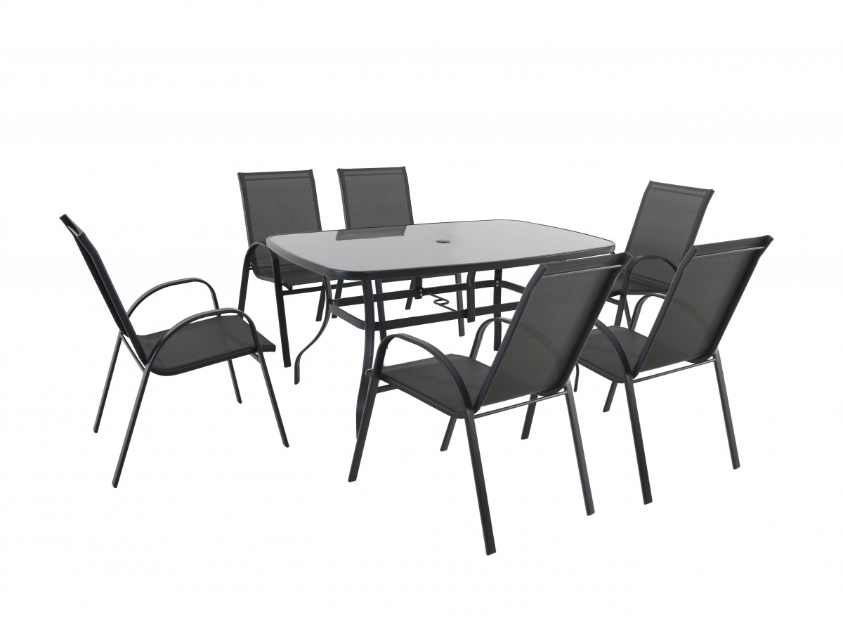 Verona 6+ - kombinovaná sestava (6x židle + 1x stůl)