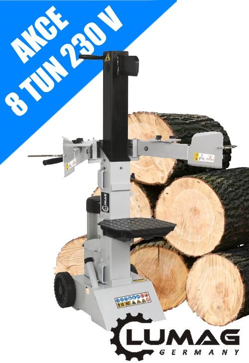 Vertikální hydraulický štípač Lumag HOS 8 - 230 V