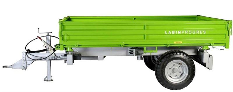 Vlečka - třístranný sklápěč TPS PV 4000 - hydraulická brzda