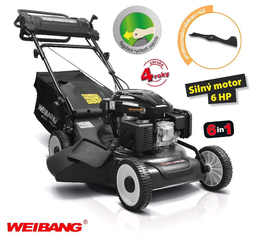 Weibang WB 506 SC 6in1 - benzínová sekačka s pojezdem + DÁREK