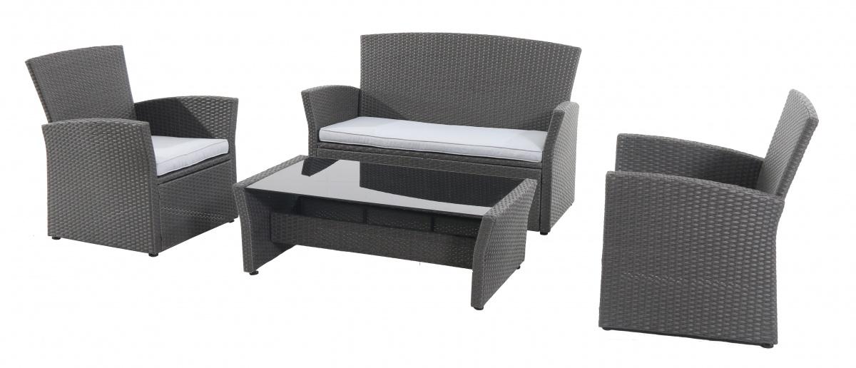 Wicke 4+ grey - sestava nábytku z ratanu