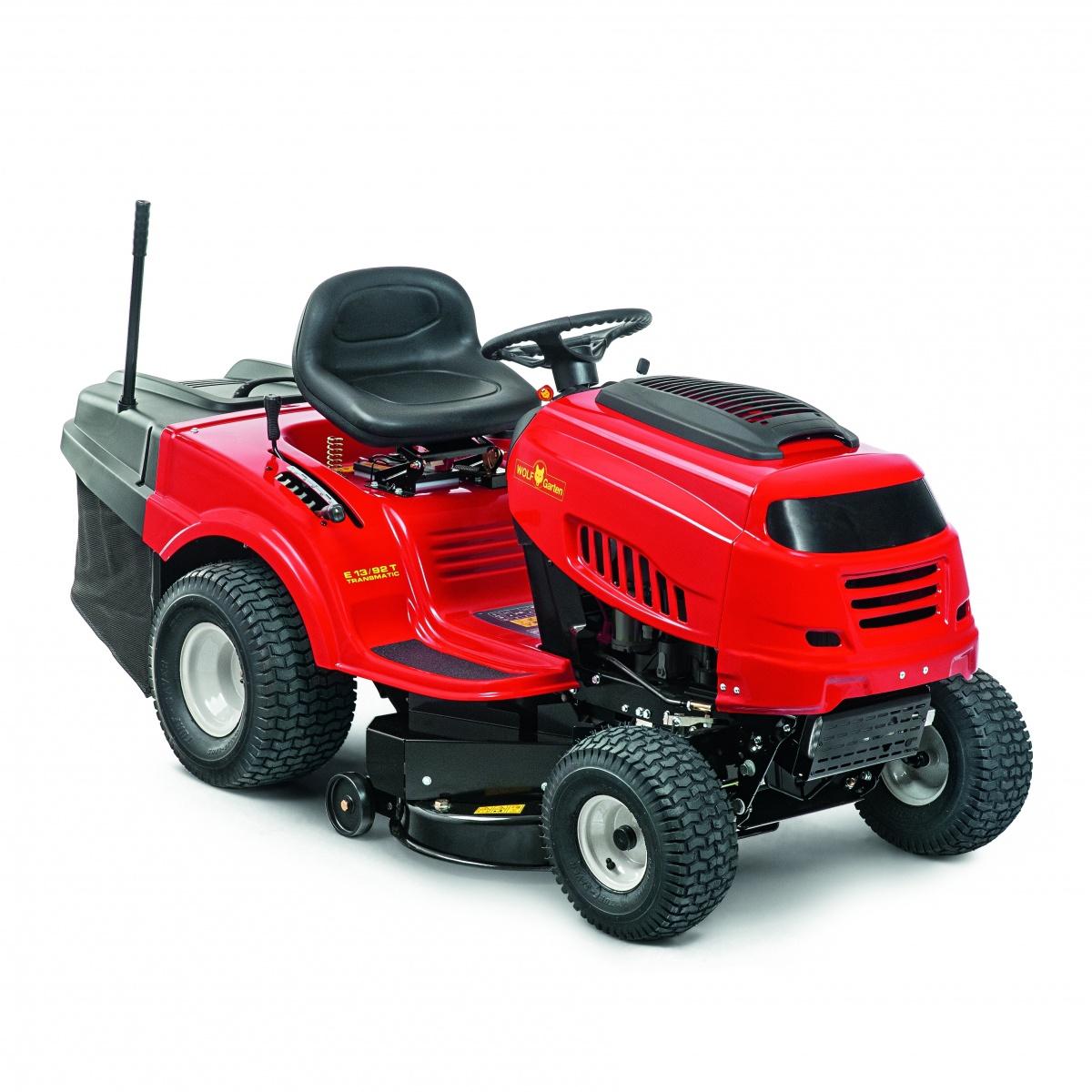 Wolf-Garten E 13/92 H - travní traktor se zadním výhozem a hydrostatickou převodovkou