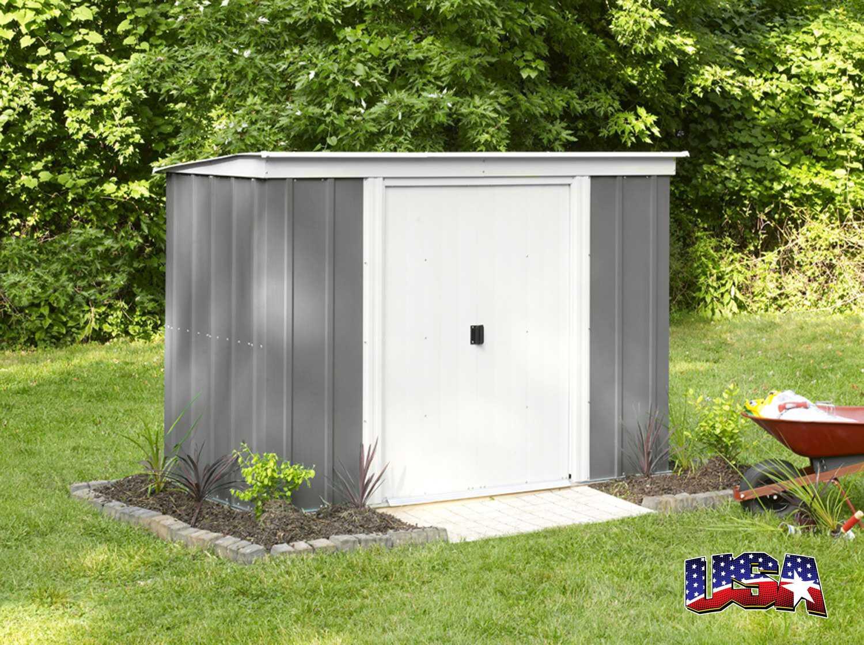 zahradní domek ARROW PT 64 šedý