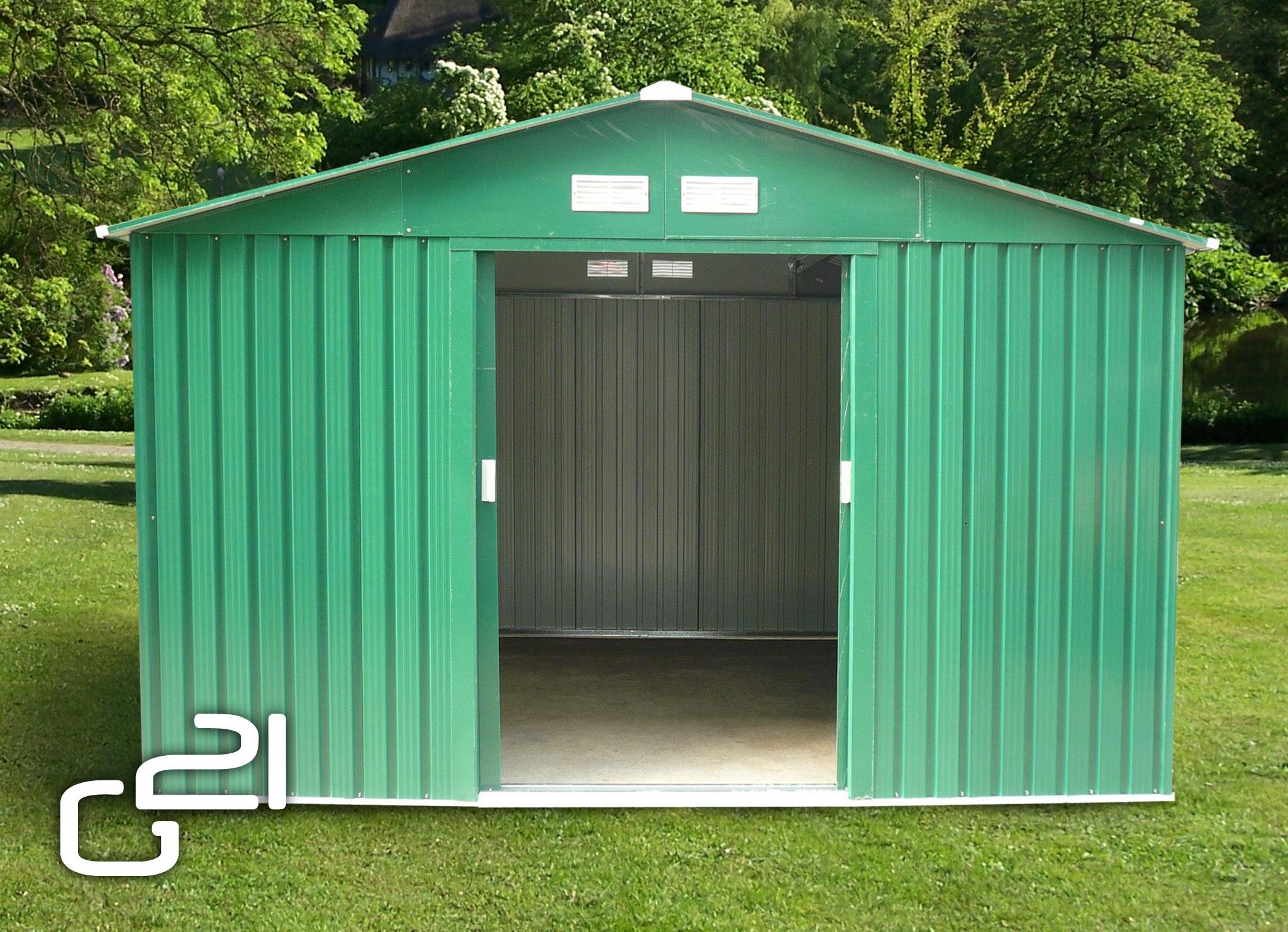 Zahradní domek G21 GAH 1092 - 311 x 351 cm - zelený