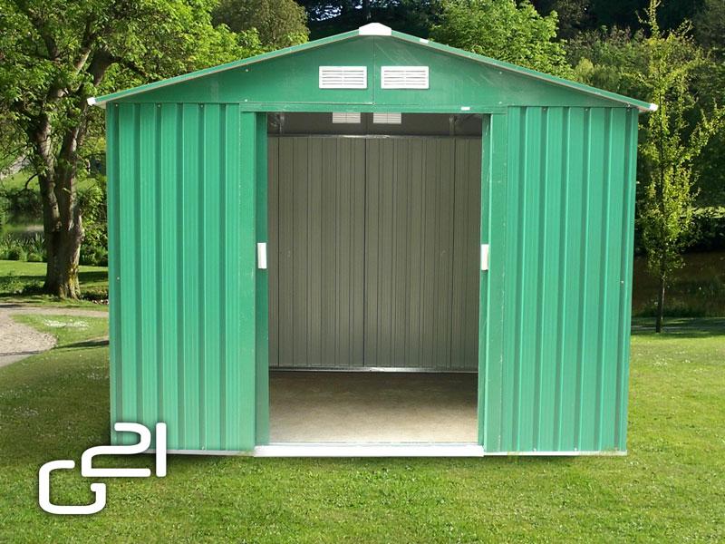 Zahradní domek G21 GAH 730 - 251 x 291 cm - zelený