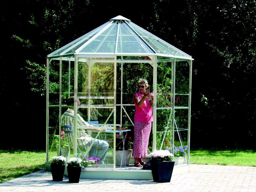 Zahradní pavilon HERA 4500 stříbrná barva
